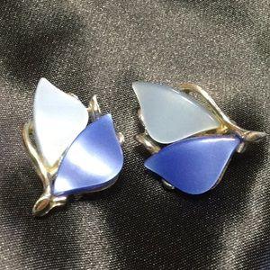 VINTAGE two-tone Blue Earrings